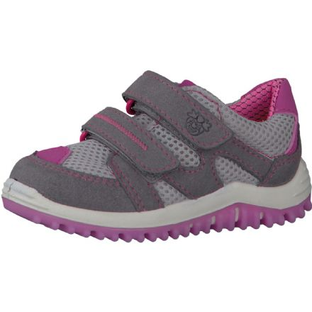 Ricosta PEPE Lightweight Velcro Trainer (Grey/ Rose)